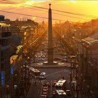 Закат над Невским. :: Георгий Ланчевский