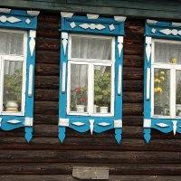 Деревенские окна. :: Николай Масляев