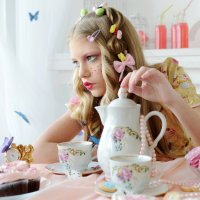 Alice in Wonderland: Tea Party in Cheshire :: Елена Ложкина