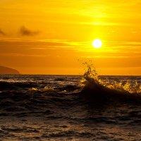 Чёрное море,золотой рассвет. :: Геннадий Валеев