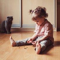 Вместе с кошкой :: Ирина Сиротова