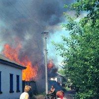 Пожар в райцентре :: Сергей Тарабара