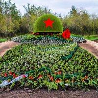 К 70-летию Победы в Оренбурге установили двухметровую солдатскую каску :: Elena Izotova