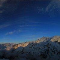 Панорама Донгузорун,над облаками,Баксанское ущ. 1 :: Олег Петрушин