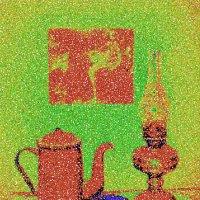 натюрморт с чашкой,лампой и чайником :: Владимир Безгрешнов