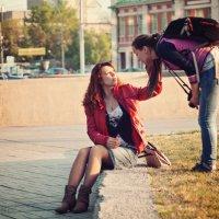 Модель и фотограф. :: Дмитрий Котов