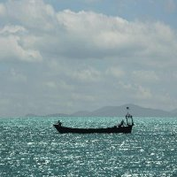 Море и лодка :: Николай Алёхин