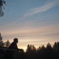 Закат у озера :: Светлана Амбурцева