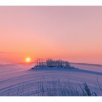 Морозный закат. :: Алексей Хаустов