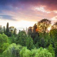 Весенний закат в Сочи :: Сергей Левит