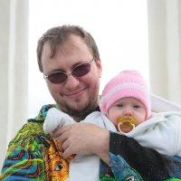 Папа с дочкой :: Мария Разоренова