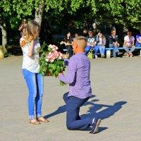 Предложение руки и сердца любимой девушке. :: Валентина ツ ღ✿ღ