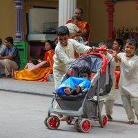 Дети в индийском храме на свадьбе :: Светлана Гусельникова