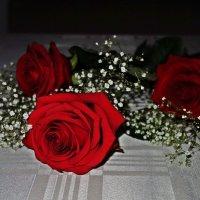 """""""А ты дарил мне розы красные. И взгляды нежные и страстные..."""" :: Galina Dzubina"""