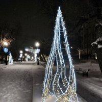 Москва. Зимняя ночь на Бульварном кольце :: Денис Масленников