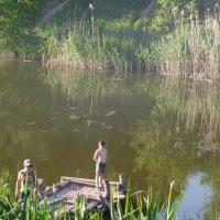 Мальцы ловят рыбу :: Лёня Билый