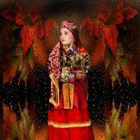 Дочь Валентина в Усть-Цилемском  наряде. :: Евгений Усатов