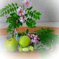 С розовой акацией... :: Galina Dzubina