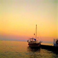 Закат на  море  Крым :: неля  тулузова