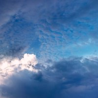 Утром 09 июня панорама из 24х кадров.  Облачное небо над Гусинобродским шоссе, Новосибирск. :: Рена Cibella Рамазанова