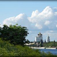 Вид на Псковский Кремль от Мирожского монастыря. :: Fededuard Винтанюк