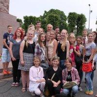 Берзиньш с школьниками из гюЦесис. :: imants_leopolds žīgurs