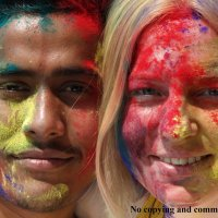 HAPPY HOLI in Pokhara Nepal! :: Мария Москалева