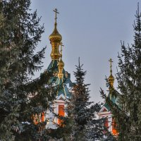 Купола Крестовоздвиженского собора. Коломна. :: Igor Yakovlev
