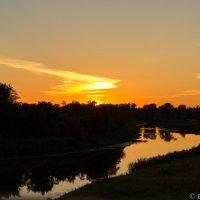 Закат, река Чепца :: Дмитрий Николаев