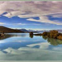 Бирюзовые воды озера Текапо :: Евгений Печенин