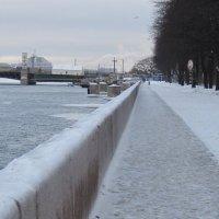 Адмиралтейская набережная зимой.Санкт-Петербург. :: Маера Урусова