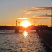 Закат над Литейным мостом. :: Маера Урусова