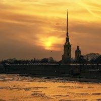 Петропавловка на закате :: Владимир Колесников