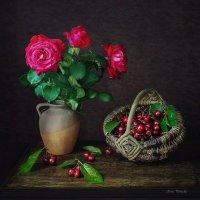 С черешней и розами :: Ирина Приходько
