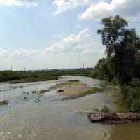 Река  Быстрица  Надворнянская  в  Ивано - Франковске :: Андрей  Васильевич Коляскин