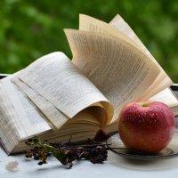 Книга и яблоко. :: Полина Лаврова