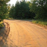 Дорога на закате :: Alena Cyargeenka