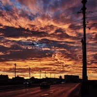 Облачный закат :: Михаил Бабаков