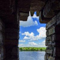 Вид из бойницы со стены крепости Орешек :: Ольга Рощектаева