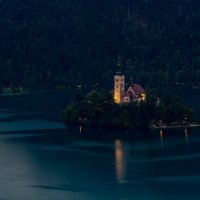 Озеро Блед и часовня Успения :: Ростислав Бычков