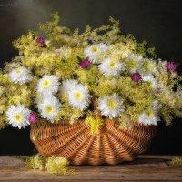 С букетом махровых ромашек и полевыми цветами :: Светлана Л.
