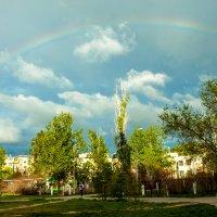 Радуга над двумя детскими садами после ливня :: Ольга Кучаева