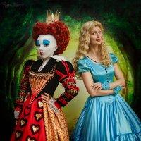 Королева Червей и Алиса :: Даша Кириллова