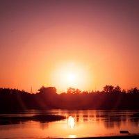 Сентябрьский закат над р.Ахтуба :: Ольга Кучаева