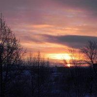 Зимнее солнце всходит. :: Елизавета Успенская