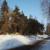 дорога  вдоль погоста :: Сергей Кочнев
