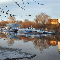 Пристань в апреле :: Диана Задворкина