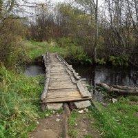мостик через ручей :: Сергей Кочнев