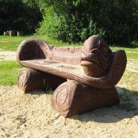 Скамейка на пляже :: Андрей Снегерёв