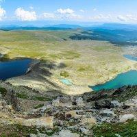 Вид на Куратинские озёра с горы Сарлык (Семинский хребет) :: Денис Соломахин